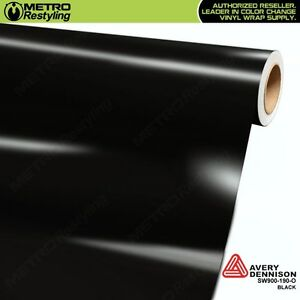 Avery Supreme Gloss Black Vinyl Vehicle Car Wrap Film Sheet Roll Sw900 190 o