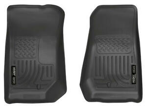 2007 2013 Jeep Wrangler Floor Mats Black Husky Weatherbeater First Row Liners