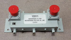 13311 Bandpass Filter Microwave Filter Co Inc