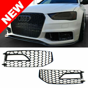 2013 2016 Audi A4 B8 5 Rs4 Style Front Bumper Fog Vent Grilles Gloss Black