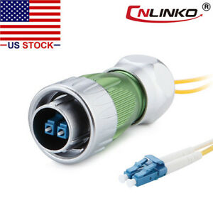 Fiber Optic Connector Plug Outdoor Waterproof Ip67 W 10ft Cable Single Mode Lc