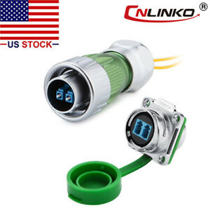Cnlinko Fiber Optic Connector Plug Socket Outdoor W 10ft Cable Single Mode Lc