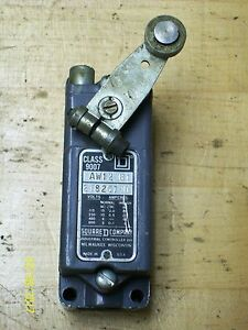 Square D Limit Switch With Roller Lever Class 9007 Type Aw12 b1