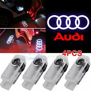 4 Led Logo Light Shadow Projector Car Door Courtesy Laser For Audi A4 A6 A8 Q7