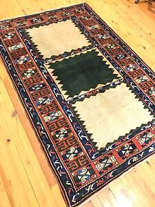 Antique 1930 1939 S Natural Old Dye Wool Pile Armenian Rug 5x7ft