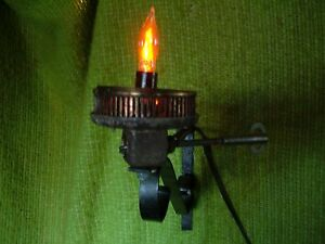 Wall Mount Flicker Flame Lamp Light Part Repurposed Upcycle Project Unfinished