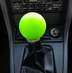 Universal Neon Green 2 Inch Round 3d Printed Shift Knobhonda Toyota Ford Chevy