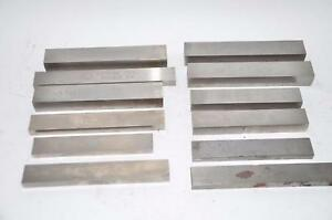 Lot Of 12 Chicago Latrobe Others Square Tool Bit Blank Large Sizes Mixed Lot