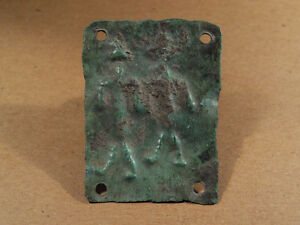 Ancient Bronze Plaque 2 Deities Image Phoenician 1300 900 Bc