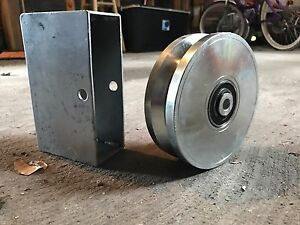 6 Steel V Groove Wheel W Box set Of 2