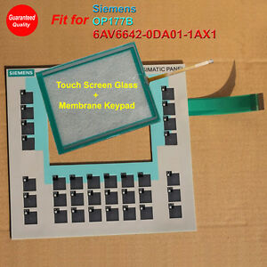Touch Screen Glass Membrane Keypad For Siemens Op177b 6av6642 0da01 1ax1