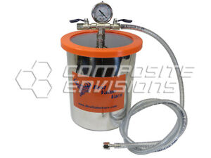 Vacuum Chamber Degassing Pot Stainless Steel 1 5 Gallon