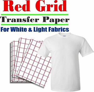 Heat Transfer Paper Light T shirt Inkjet Iron On Heat Press Pk 100 Sheets
