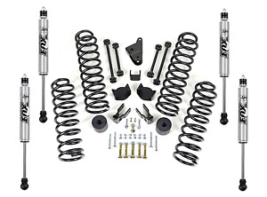 Readylift 4 Coil Spring Lift Kit And Bds Fox Shock Absorbers For Wrangler Jk