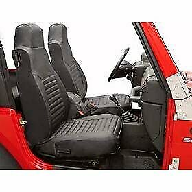 Bestop Set Of 2 Seat Covers Front New Black For Jeep Cj7 Cj5 29225 15