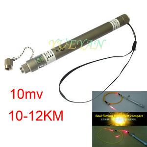 10mw 10 12km Pen Type Visual Fault Locator Vfl Red Light Fiber Optic Cable Test