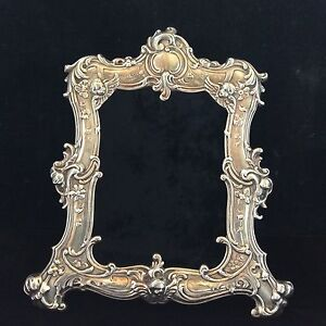 Antique Vintage Sterling Silver Ornate Gorham Picture Frame Cherubs Floral Leaf