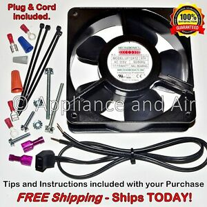 Hatco Food Warmer R02 12 001 00 Axial Fan Wire plug 115v 106cfm Ships Today