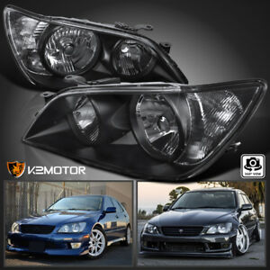 For 2001 2005 Lexus Is300 Black Replacement Headlights Head Lamps Left Right