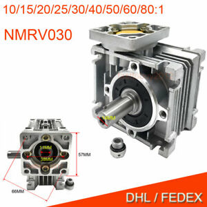 Nema23 Flange Worm Gearbox Speed Reducer 10 1 15 1 30 1 For Stepper Motor Cnc