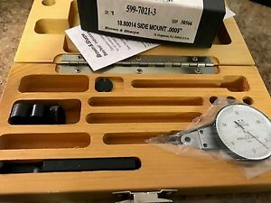 Brown And Sharpe 599 7021 3 Dial Test Indicator Set Side Mounted M1 4x0 3