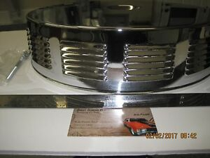 Ford Chevy Mopar Round Louvered Styled Top Air Cleaner Set 14 X 3 W Filter