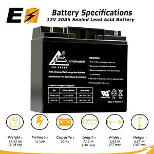 12v 20ah Sealed Lead Acid agm Battery For Modified Power Wheels