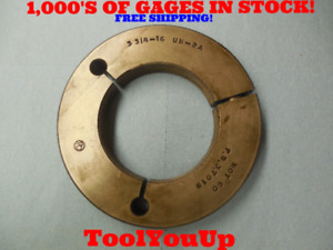3 3 4 16 Un 2a Thread Ring Gage 3 75 No Go Only P d 3 7019 Machineshop Tooling