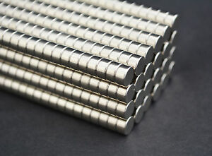 500 Magnets 6mm X 3 Cylinder Disk Strong N45 Rare Earth Neodymium Us Seller