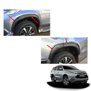 Mitsubishi Pajero Montero Sport Fender Flares Wheel Matt Black 8pc Fit 2016 2017