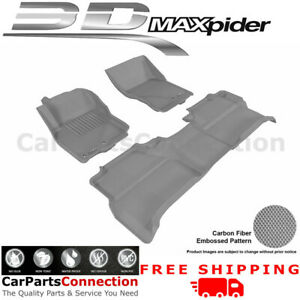 All Weather Floor Mat For Nissan Frontier Crew Cab 05 16 Kagu Gray R1 2 Maxpider