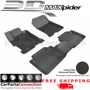 All Weather Floor Mats For Honda Accord 2013 2016 Sdn Kagu Black R1 R2 Maxpider