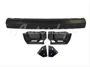 For 1997 2001 Jeep Cherokee Front Bumper Black Center Bar End Txt Bracket 5pc