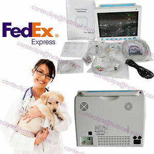 Vet Veterinary Patient Monitor Vital Sign 6 Parameter Ecg Nibp Spo2 Pr Resp Temp