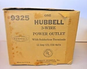 Hubbell 9325 Flanged Power Outlet 50amp 125 250 Volt