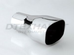 Different Trends Dt 042 Stainless Exhaust Tip Square Slant Double Wall 2 25 X 7