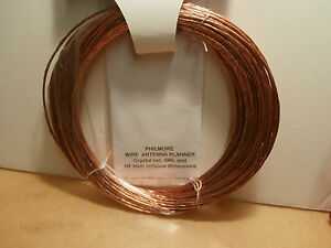 Copper Antenna Wire 100 Feet 14 Awg Stranded philmore 15 635 new