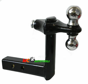 Tow Hitch 8 Inch 8 Drop Adjustable Tow Dual Hitch Ball 2 2 5 16