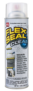 Flex Seal 14oz Liquid Rubber Sealant Flexible Paintable Water Tight Clear 2 Pack