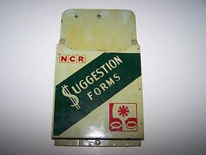 Rare National Cash Register Ncr Factory Floor Suggestion Forms Box Wood Painted