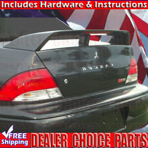 2002 2003 Mitsubishi Lancer Factory Style Spoiler Trunk Wing W Led Primer