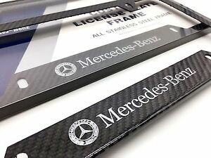 Mercedes License Plate Black In Stock Replacement Auto
