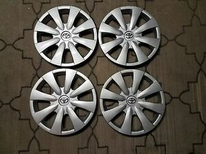 1 Set Of 4 Brand New 2009 10 11 12 2013 Corolla Hubcaps 15 Wheel Covers 61147