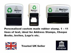 Maxstamp Maxum Self Inking Custom Rubber Stamps 1 To 11 Lines Of Text