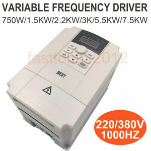 220v 380v 3kw 1 5kw 3 7kw Motor Speed Control Variable Frequency Drive Vfd