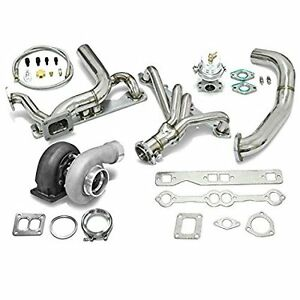 High Performance Upgrade Gt45 T4 5pc Turbo Kit Chevy Small Block Sbc Engine 350
