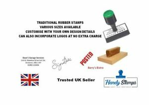 Personalised customised Rubber Stamp Address Business School Garage Shop Etc