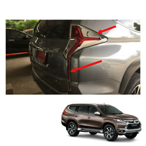 Mitsubishi Pajero Montero Sport Tail Lamp Light Cover Chrome Trim On 2016 2017