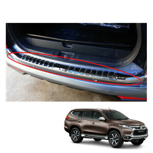 Mitsubishi Pajero Montero Sport Rear Tailgate Bumper Step Cover Chrome On 2016