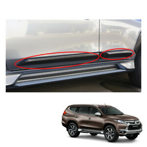 Mitsubishi Pajero Montero Sport Side Door Guard Cladding Molding Black On 2016